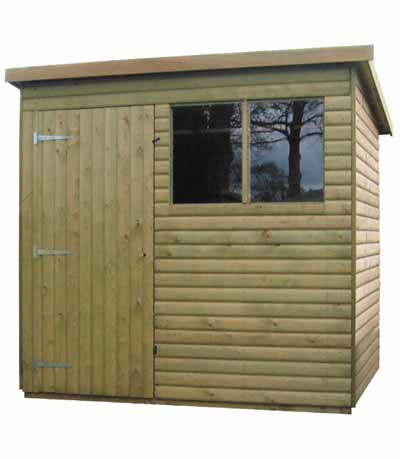 Scandinavian Pent Shed by Pinelap Sheds | Bradford