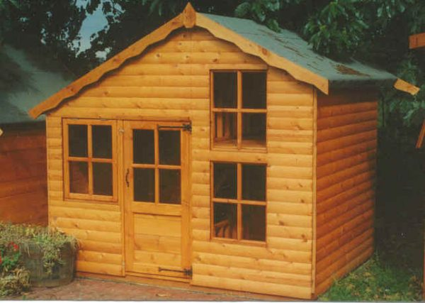 Upstairs Downstairs Wooden Childrens Playhouse by Pinelap Sheds | Bradford