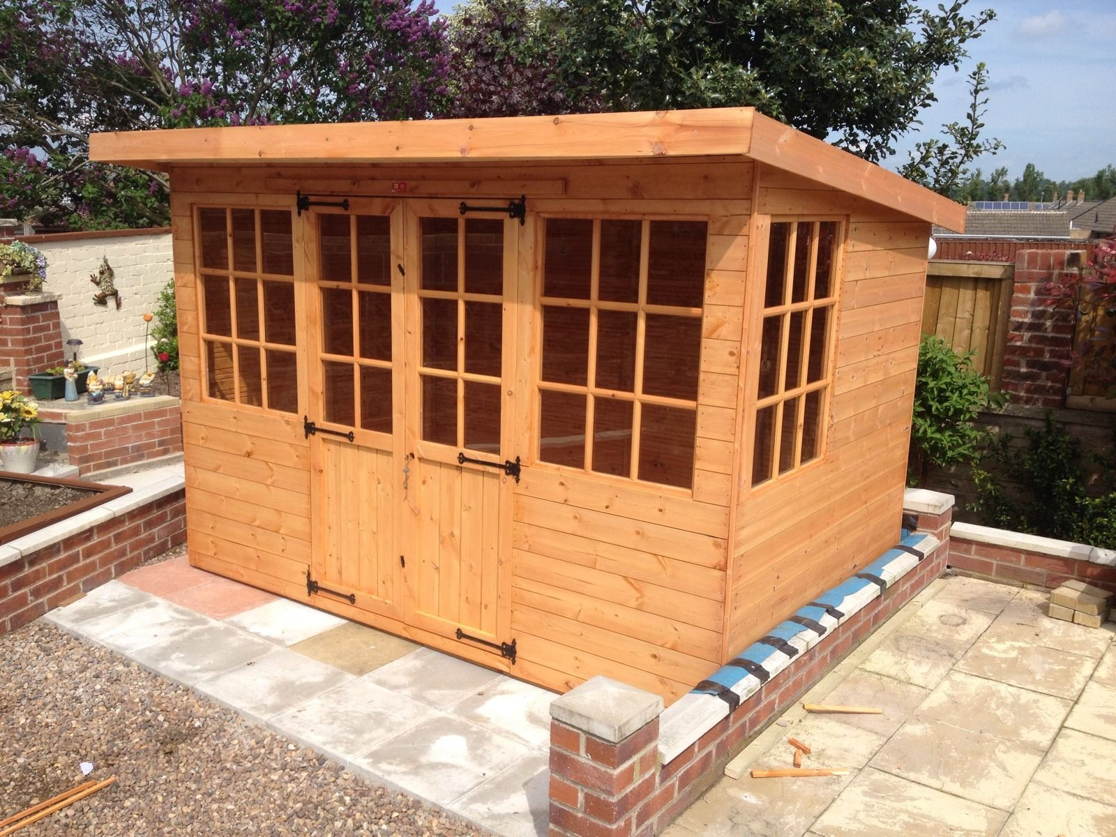 Devon Pent Georgian Summerhouse deliver and build by Pinelap Sheds Bradford | Leeds | West Yorkshire